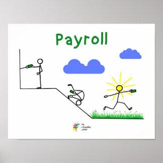 Poster engraçado da folha de pagamento - arte da