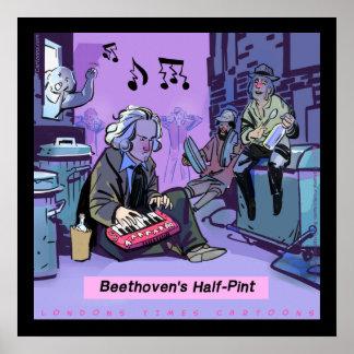 Poster engraçado da meia pinta de Beethoven pelo