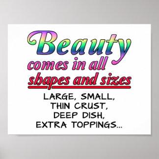 Poster engraçado das formas e dos tamanhos da
