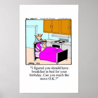 Poster engraçado do aniversário! pôster