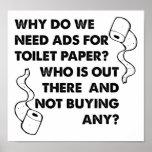 Poster engraçado dos anúncios do papel higiénico