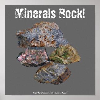 Poster engraçado dos coletores da rocha de minerai