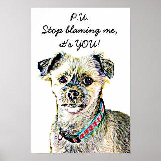Poster engraçado Farting do cão