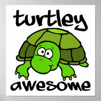 Poster engraçado impressionante de Turtley