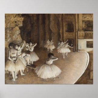 Pôster Ensaio do balé no palco | Edgar Degas