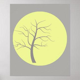 Poster ensolarado impressionante da árvore A3