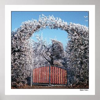 Poster Entrada ao país das maravilhas do inverno
