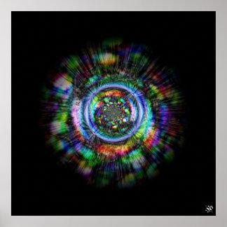 Poster Esboço psicadélico colorido de um olho