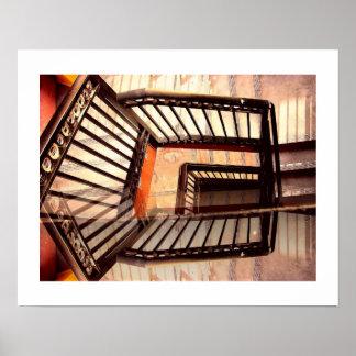 Poster Escadas da ilusão óptica