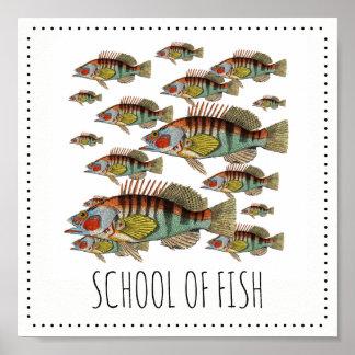 Pôster Escola dos peixes