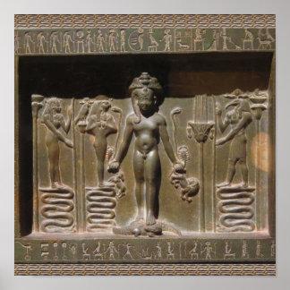 Poster Escultura egípcia da estátua no museu de New York