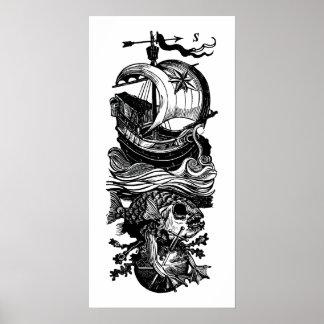 Pôster Espada dos peixes do navio