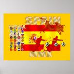 Poster espanhol colossal da bandeira de Toro do fu