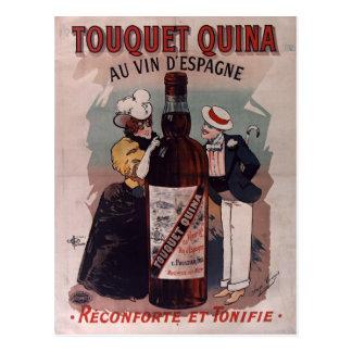 Poster espanhol da propaganda do vintage: vinho cartão postal