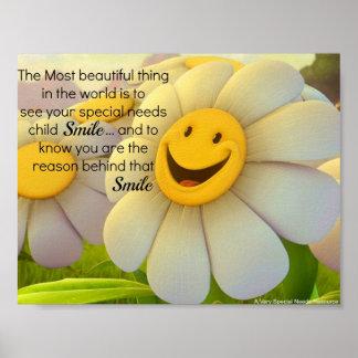 Poster especial do sorriso das necessidades