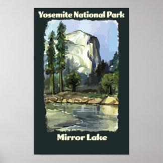 Pôster Espelhe o lago, parque nacional de Yosemite,