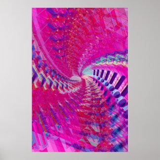 Poster: Espiral abstrata/psicadélico Poster