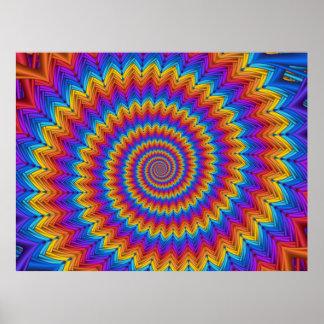 Poster espiral psicadélico