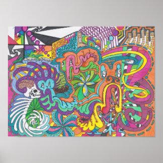 Poster Espírito da cor funcionados Amok