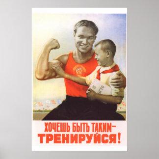 Pôster Esporte soviético