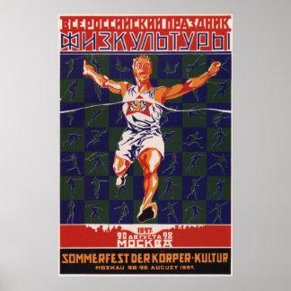 Pôster Esporte soviético 1927