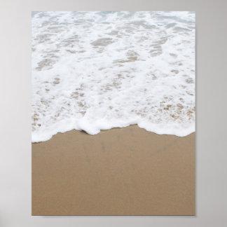 Pôster Espuma do mar, ondas de oceano