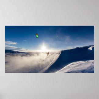 Pôster Esqui nevado dos dias
