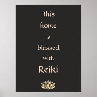 Pôster Esta casa é abençoada com Reiki