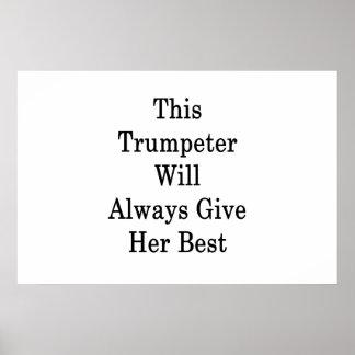 Poster Esta trompetista dará sempre seu melhor