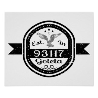 Pôster Estabelecido em 93117 Goleta
