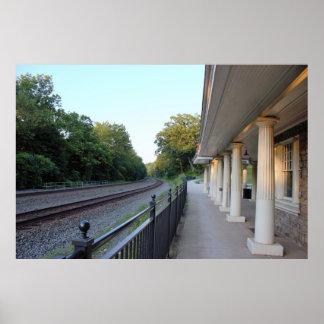 Pôster Estação de caminhos-de-ferro da forja do vale