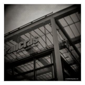 Pôster Estação Londres de St Pancras - câmera do