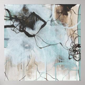 Poster Estática e tempestade - expressionism abstrato