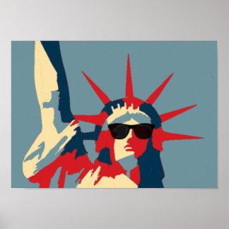 Poster Estátua da liberdade que veste óculos de sol