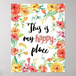 Poster Este é meu lugar feliz