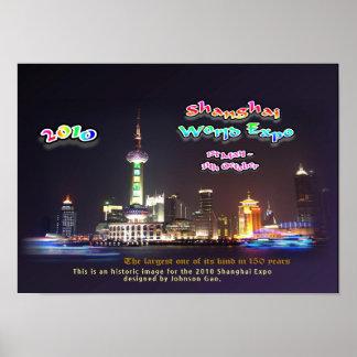 Poster Este é um design histórico para a expo de Shanghai