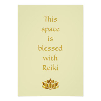 Poster Este espaço é abençoado com Reiki