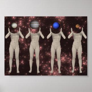 Poster estético das meninas do planeta de pôster
