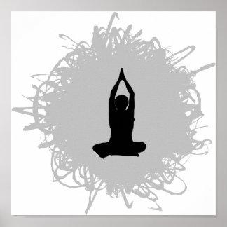 Poster Estilo do Scribble da ioga