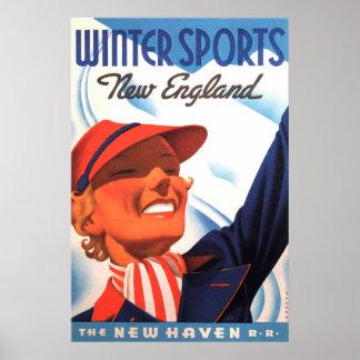 Poster Estrada de ferro de Nova Inglaterra New Haven dos