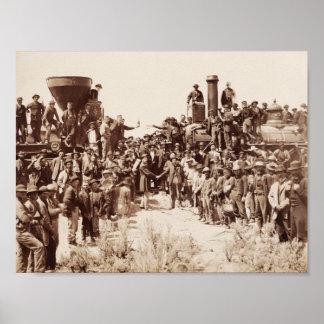 Pôster Estrada de ferro Transcontinental - cerimónia
