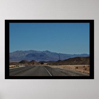 Poster Estrada do deserto de Nevada