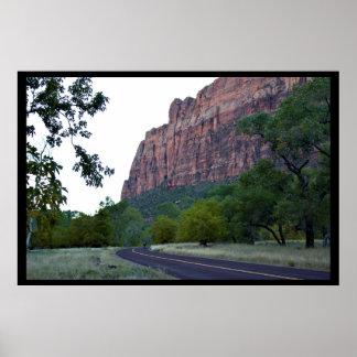 Poster Estrada do parque nacional de Zion
