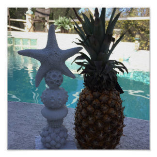 Poster Estrela do mar do abacaxi