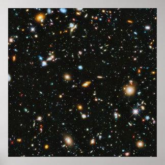 Poster Estrelas no espaço - campo ultra profundo de