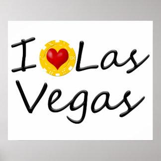 Pôster Eu amo Las Vegas