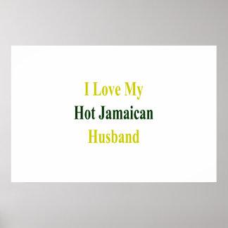 Pôster Eu amo meu marido jamaicano quente