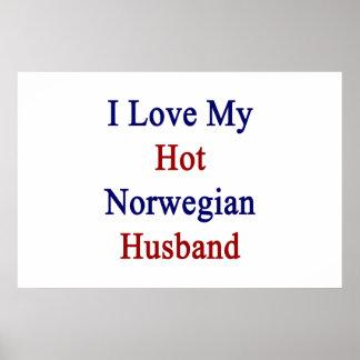 Poster Eu amo meu marido norueguês quente
