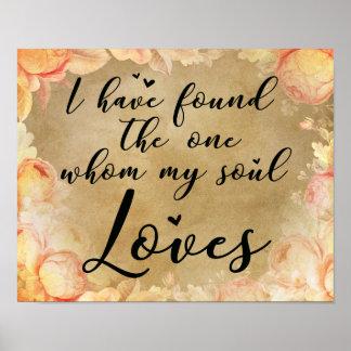 Poster Eu encontrei esse quem minha alma ama