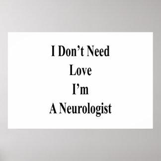Pôster Eu não preciso o amor que eu sou um neurologista
